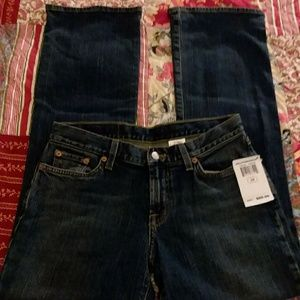 "Lucky Brand ""Josie"" Mid-Rise Flare Jeans."